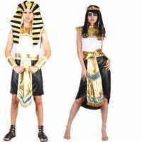 Frauen Männer Ägyptischen Pharaos Cleopatra Cosplay Kostüme Bühne Halloween Chrismtmas Neue Jahr Fancy Party Paare Kostüme