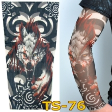 1 Pc Tattoo Sleeves W-97 Styles Elastic Fake Nylon Arm Stockings Blood Wolf Design Statoo COOL Men Sexy Women