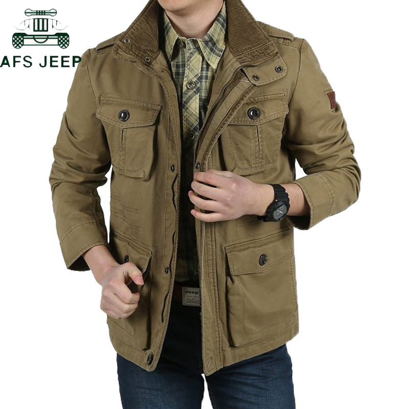 AFS JEEP Plus Size 7XL 8XL Loose Army Military Jackets Men Cotton Thich Warm Autumn Winter Mens Jackets Hombre Jaqueta Masculina