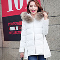 Real 100% raccoon fur winter jacket women  2016 new fashion   warm thick long  Slim hooded down jacket coat women