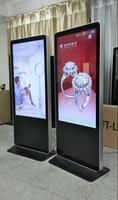 65 pulgadas del piso máquina de publicidad, led LCD pared jugador, vertical máquina de publicidad HD, muestra DEL LED soporte de exhibición, WI-FI, WI-FI, WAP