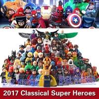DR TONG 64PCS LOT Super Heroes Superman Robin Captain America Batman Wonder Woman Riddler Building Blocks