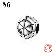 SG New arrival Silver 925 Original Charms Earth Beads Fit Authentic pandora Bracelet diy fashion Jewelry making for Women Gifts цена