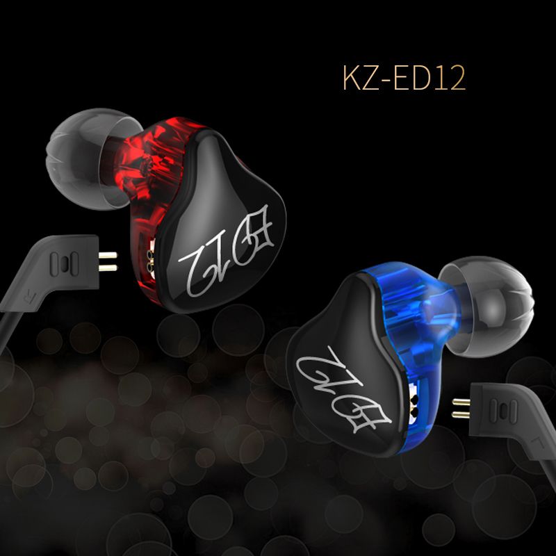 Original KZ ED12 high-fidelity headphones removable cable earphones audio monitor noise isolation HiFi music sports earplugs ed 26821 000 buzzers audio products mr li