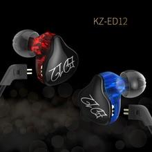 Оригинальный KZ ED12 высококачественные наушники съемный кабель наушники аудио монитор шумоизоляция HIFI Музыка Спорт беруши