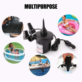 New 12V Car Auto 3 Nozzles inflatable boat Air suction Pump gas-fill Air compressor Electric Air Pump for Beds Mattresses Toys