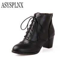 ASYSPLNX Black Yellow Brown Pointed Toe Heel Lady Fashion Ankle Mantle Boots 2016 Spring And Autumn