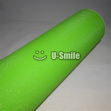 High Quality Apple Green Glitter Sandy Sparkle Vinyl Film Roll Bubble Free For Phone Laptop Ipad Sticker Cover Size:1.52*30M