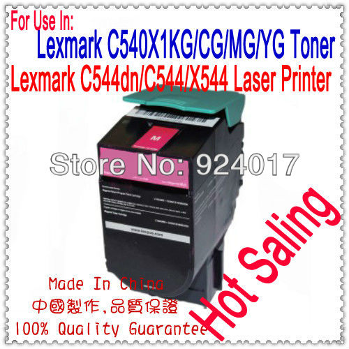 For Lexmark C544 C546 X544 X546 X548 Reset Toner Cartridge,For Lexmark C544X1CG C544X1KG C544X1MG C544X1YG 544 546 548 Toner chip for lexmark computer peripheral supplies chip for lexmark c748 mfp chip reset refill resetterter chips free shipping