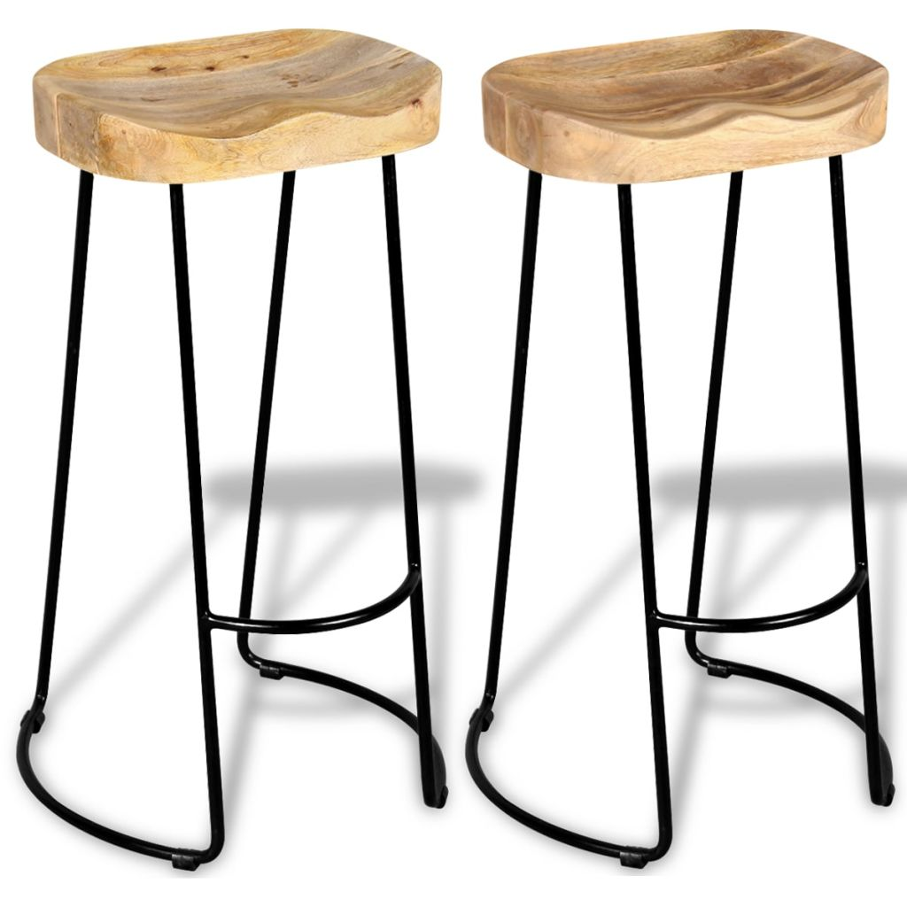 Bar Stools Solid Wood Top Dining Chair
