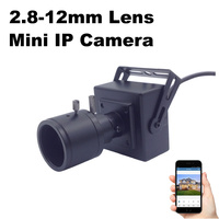 IP Camera Mini Varifocal Lens 2 8 12mm 1080P 960P 720P Security Surveillance Camera 2MP Metal