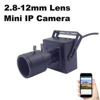 IP Camera Mini Varifocal Lens 2 8 12mm 1080P 960P 720P Security Surveillance Camera 2MP Metal