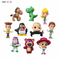 10 pcs/lot toy anime action figure fridge magnets perfect quality anime figurine Woody Andy Hamm Sid toys for children
