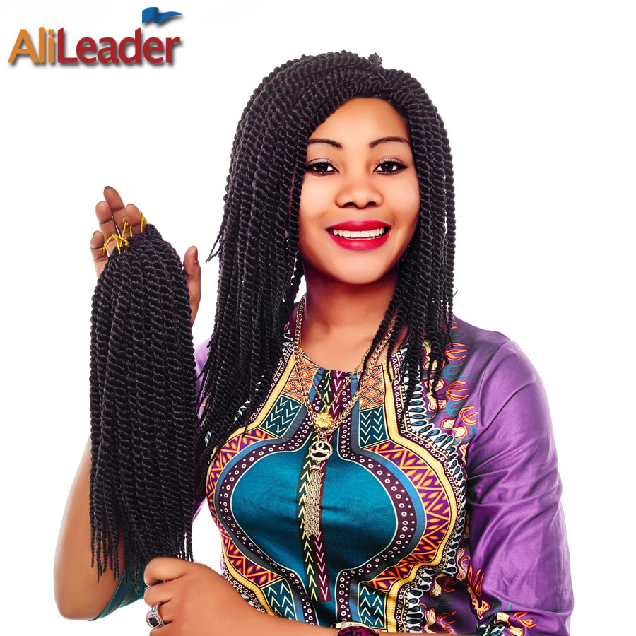 Alileader 12 Inch Senegalese Twist Crochet Braid High Temperature Crochet Hair Synthetic Pre Braided Hair Extensions For Kids