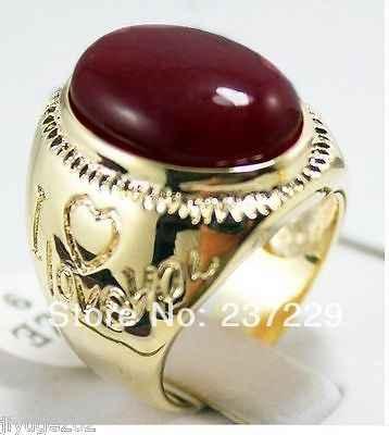 ร้อนขาย->@@ขายส่งราคาS ^^^^แผ่นทองที่สวยงามสีแดงหยกแหวนขนาด9-11 #-top qualityจัดส่งฟรี