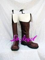 Аниме aph хеталия северной Италии/Франция Косплэй обувь для вечеринок коричневые сапоги индивидуальные Размеры