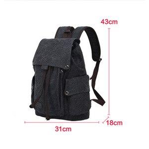 Image 5 - حقيبة ظهر للكمبيوتر المحمول للرجال عالية الجودة من القماش حقائب مدرسية للمراهقين حقيبة ظهر للسفر ذات سعة كبيرة حقائب نهارية