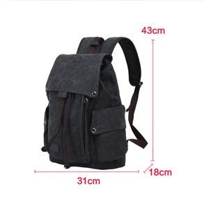 Image 5 - Mens Laptop Computer Backpack High quality Canvas Backpacks Teenage School Bag Fashion Travel Backpack Large Capacity Daypacks