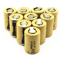8/10/12/15PCS 4/5SC 1.2V rechargeable battery 1200mAh 4/5 SC Sub C Ni-CD cell with welding tabs for electric drill screwdriver все цены
