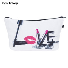 Jom Tokoy Fashion Brand Cosmetic Bags 2016 New Fashion 3D Printing Women Travel Makeup Case HZB713