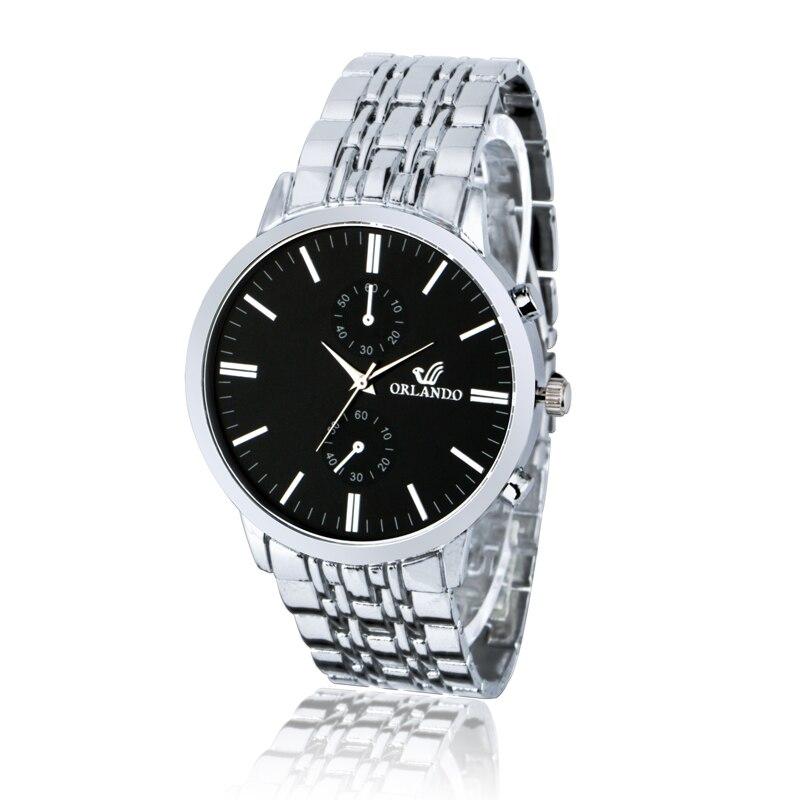 Hombres de negocios de oro reloj mecánico de lujo aleación relojes de acero inoxidable reloj automático del envío libre