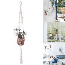Macrame вешалки для растений Крытый открытый цветочная висячая корзина пеньковая веревка 9 видов конструкций новая подвесная корзина Плетеный держатель