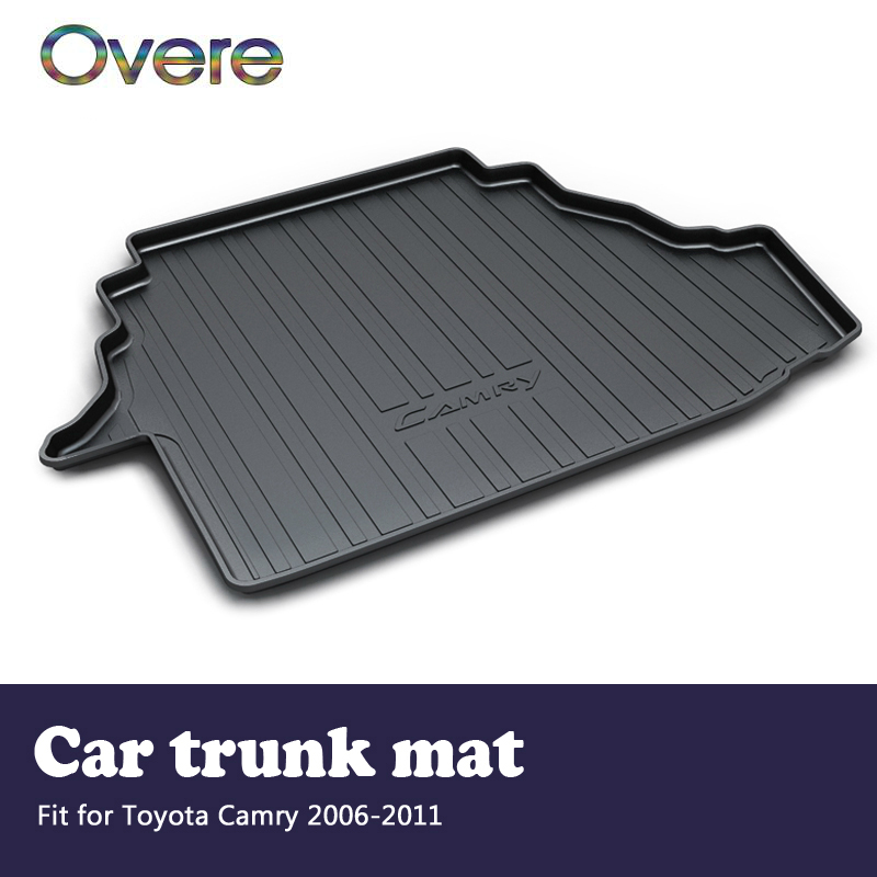 Overe 1Set Car Cargo rear trunk mat For Toyota Camry XV40 2006 2007 2008 2009 2010 2011 Boot Liner Anti-slip mat Accessories hp711 printing ink refill kit 4color 1000ml for hp designjet t520 t120 printer