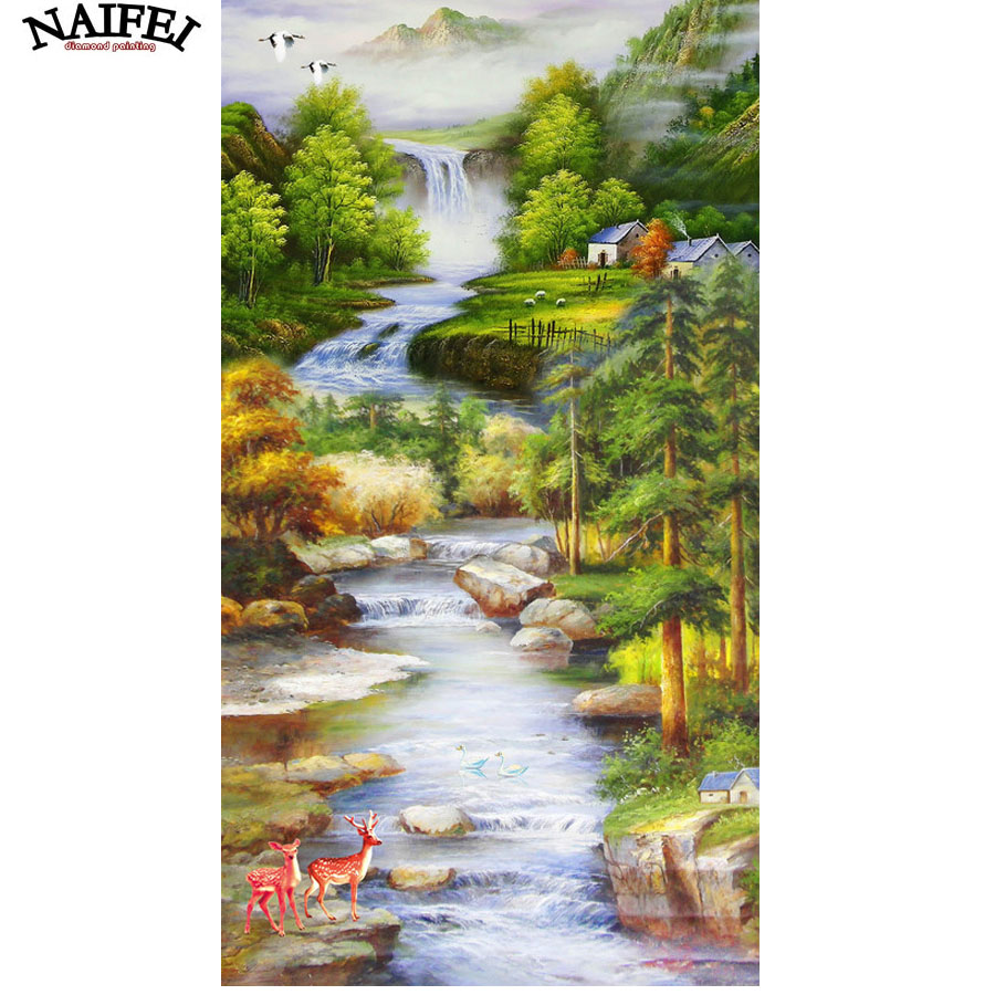 Diamond Painting Natural Scenery Garden Bridge Cross Stitch Kits Rhinestone  Square Drill,Diamonds Embroidery Home