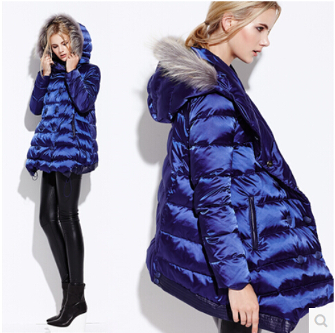 2015 New Winter Thicken Warm Women Down jacket Coat Parkas  Hooded Raccoon Fur collar Cloak Long Plus Size L Luxury High quality europe new 2015 winter warm long duck down jacket coat women high quality hooded thicken plus size windproof parka ae714
