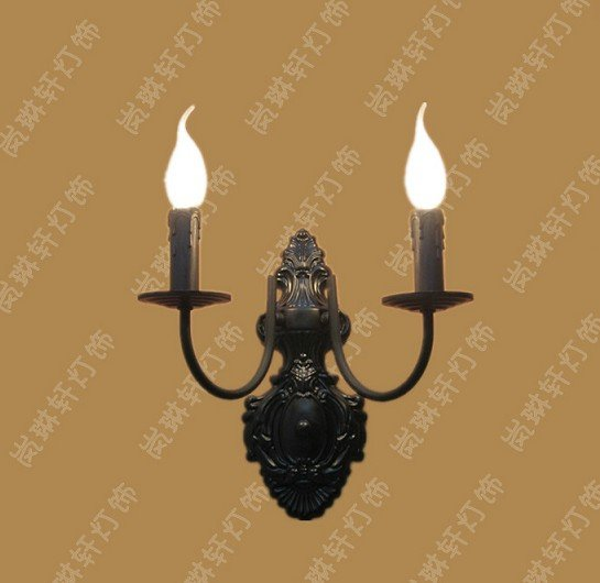 Wall Mounted Candle Lamps : Wall Lamps for home Vintage wall mounted lighting fixture modern E14 base European candle wall ...