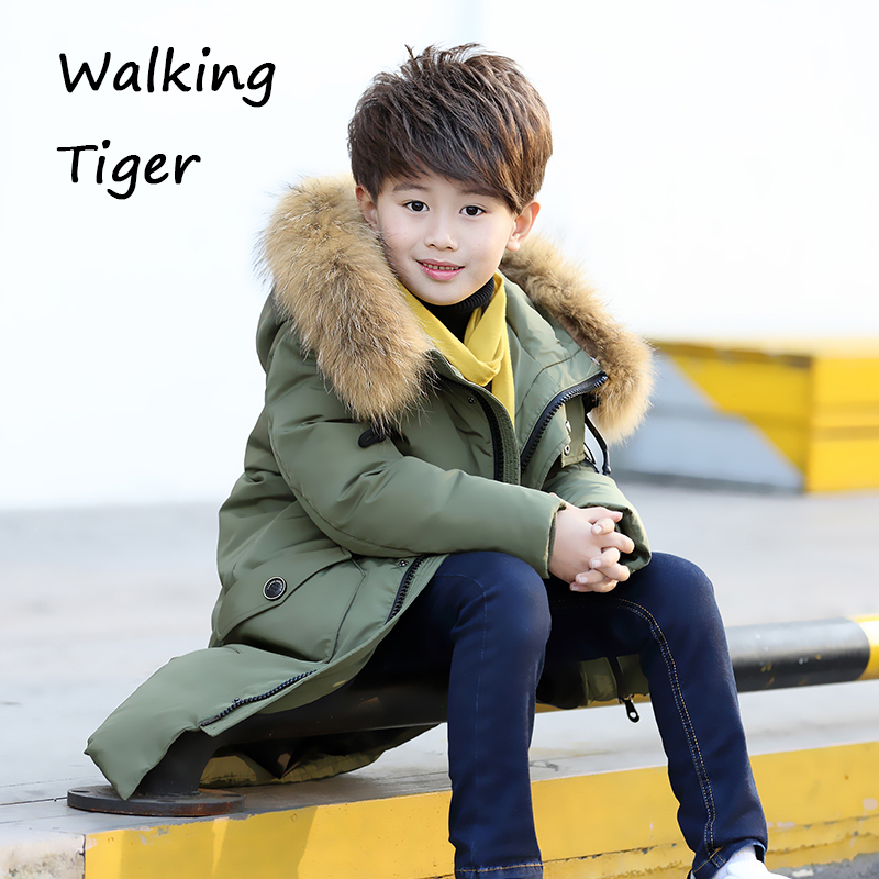 Boys down jacket clothing Coats children fashion thick cotton clothes winter warmer  2017 new boy Outerwear new 2017 russia winter boys clothing warm jacket for kids thick coats high quality overalls for boy down