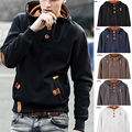 Men Autumn Winter Hoodies Sweatshirts Male camisa masculina Hooded Tops Pullover Tracksuit Outwear Plus Size