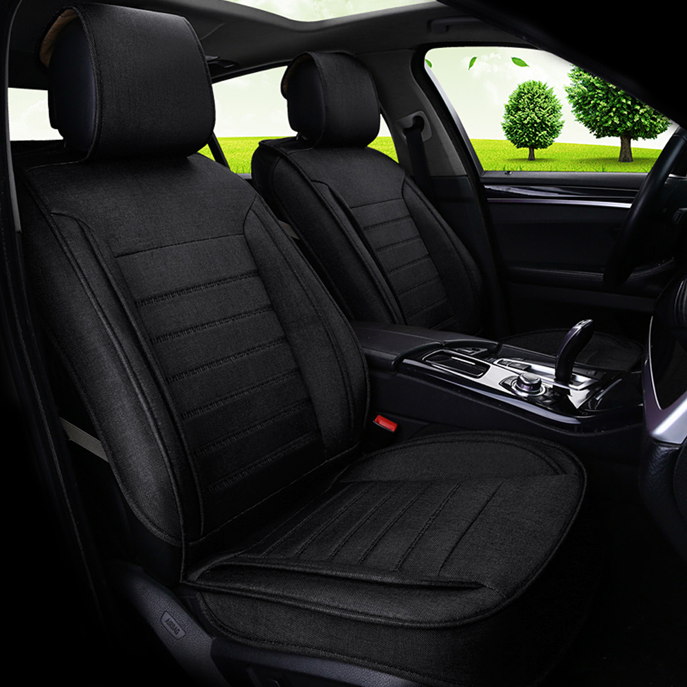 full linen fabric automobiles seat covers covers universal breathable car seat seat cover. Black Bedroom Furniture Sets. Home Design Ideas