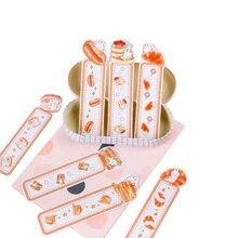 30pcs/pack Eating Rabbit Bookmarks Children School Supplies Kawaii Gift Label Message Card