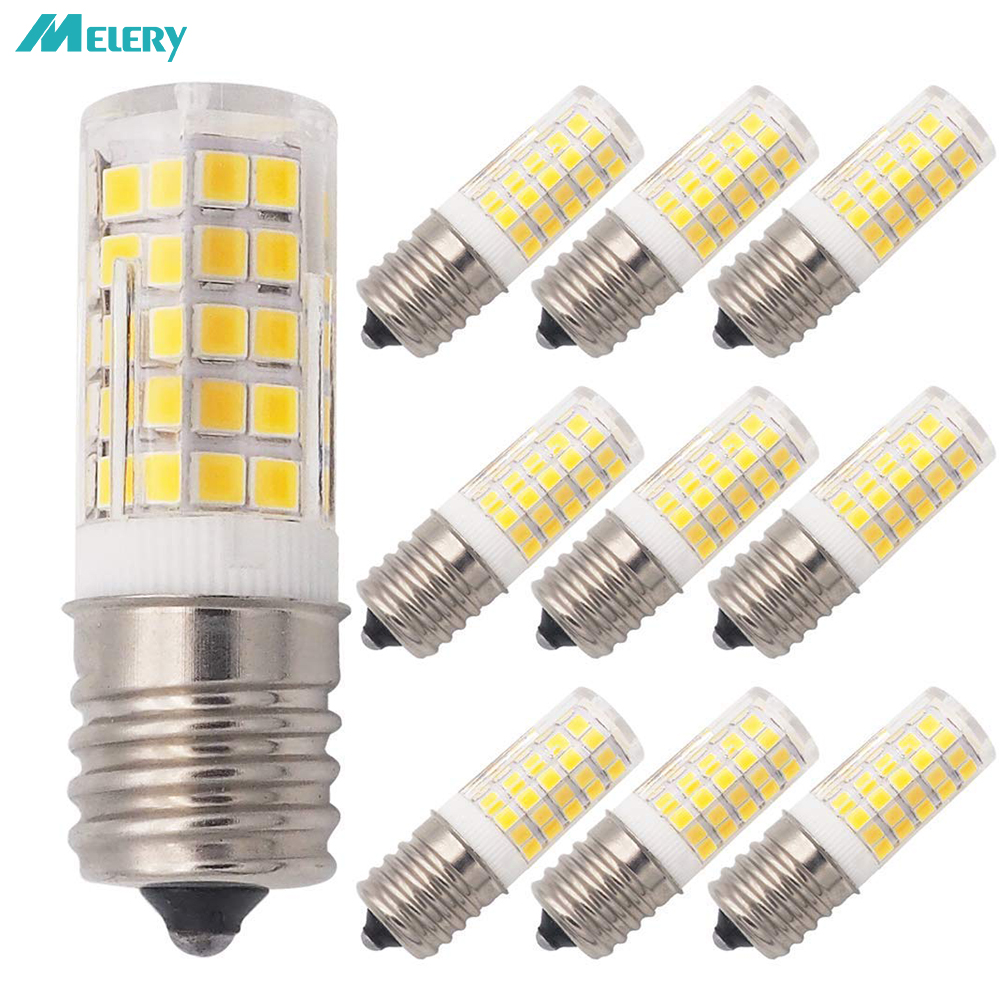 E17 LED Bulb Illuminator for Microwave 6W AC 110/220V 2835 SMD Ceramic Equivalent 60W Incandescent Cerami Warm/Cold White 10PACK-in LED Bulbs & Tubes from Lights & Lighting