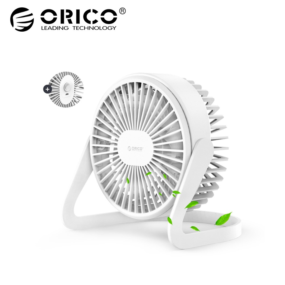 ORICO Mini USB Fan Adjustable Angle Desktop USB Cooling Fan With Press-type Switch For Office Home Outdoor Travel Portable new 6 inch table portable fan stylish adjustable desktop mini cooling fan by charger or battery powered usb fan home office