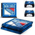NHL New York Rangers PS4 Skin Sticker Decal Vinyl For Sony PS4 PlayStation 4 Console and 2 Controllers Stickers