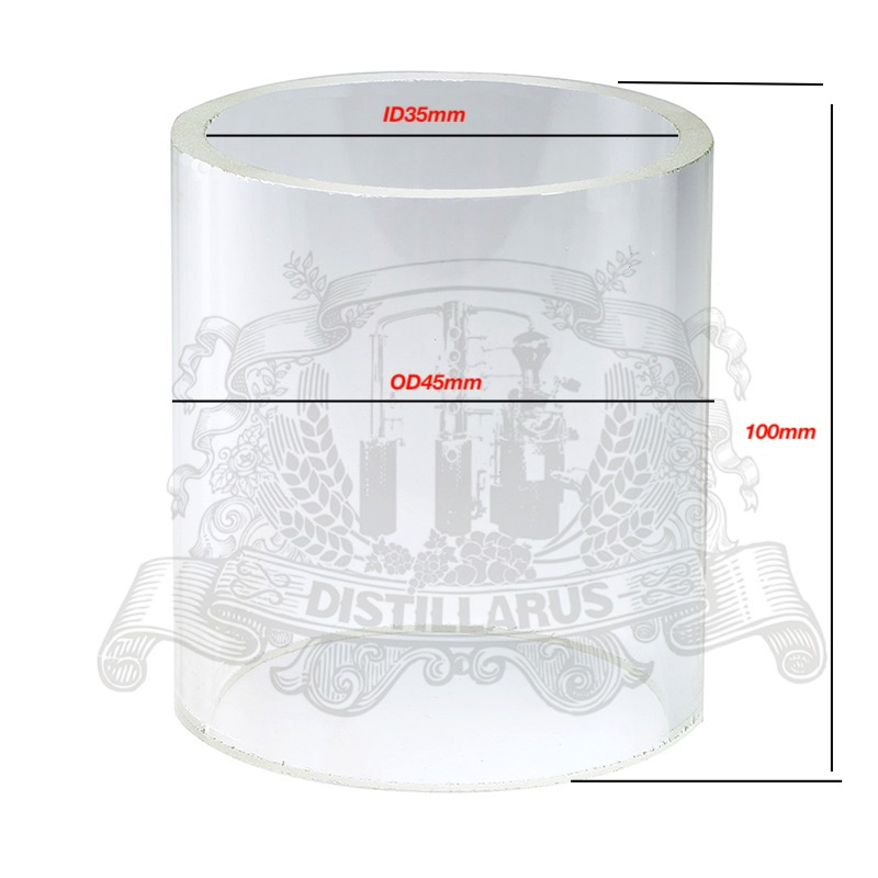 Borosilicate glass, outer diameter OD  45mm , inner diameter ID35mm ,  length 100mm. For 1.5 (38mm)OD50.5mm sight glass. DioptrBorosilicate glass, outer diameter OD  45mm , inner diameter ID35mm ,  length 100mm. For 1.5 (38mm)OD50.5mm sight glass. Dioptr