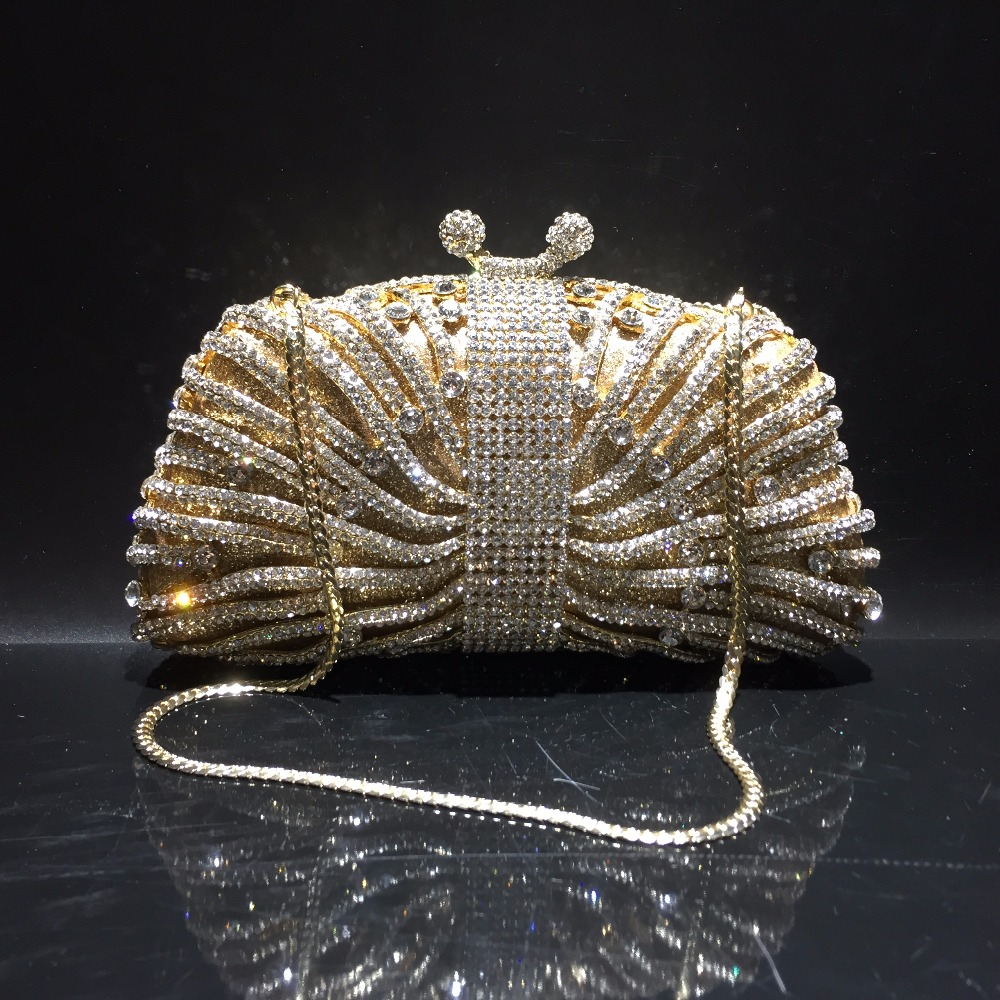 DAIWEI Luxury evening bag Crystal women party purse bags Ladies wedding bridal formal clutch bags banquet bag Day Clutches BL088 стоимость