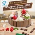 Pastel y Ver Todos Los Juguetes de Simulación de madera Tamaño 11 cm * 3 cm Para El Regalo de Cumpleaños del Niño Montessori Juguete Intelectual Intereses