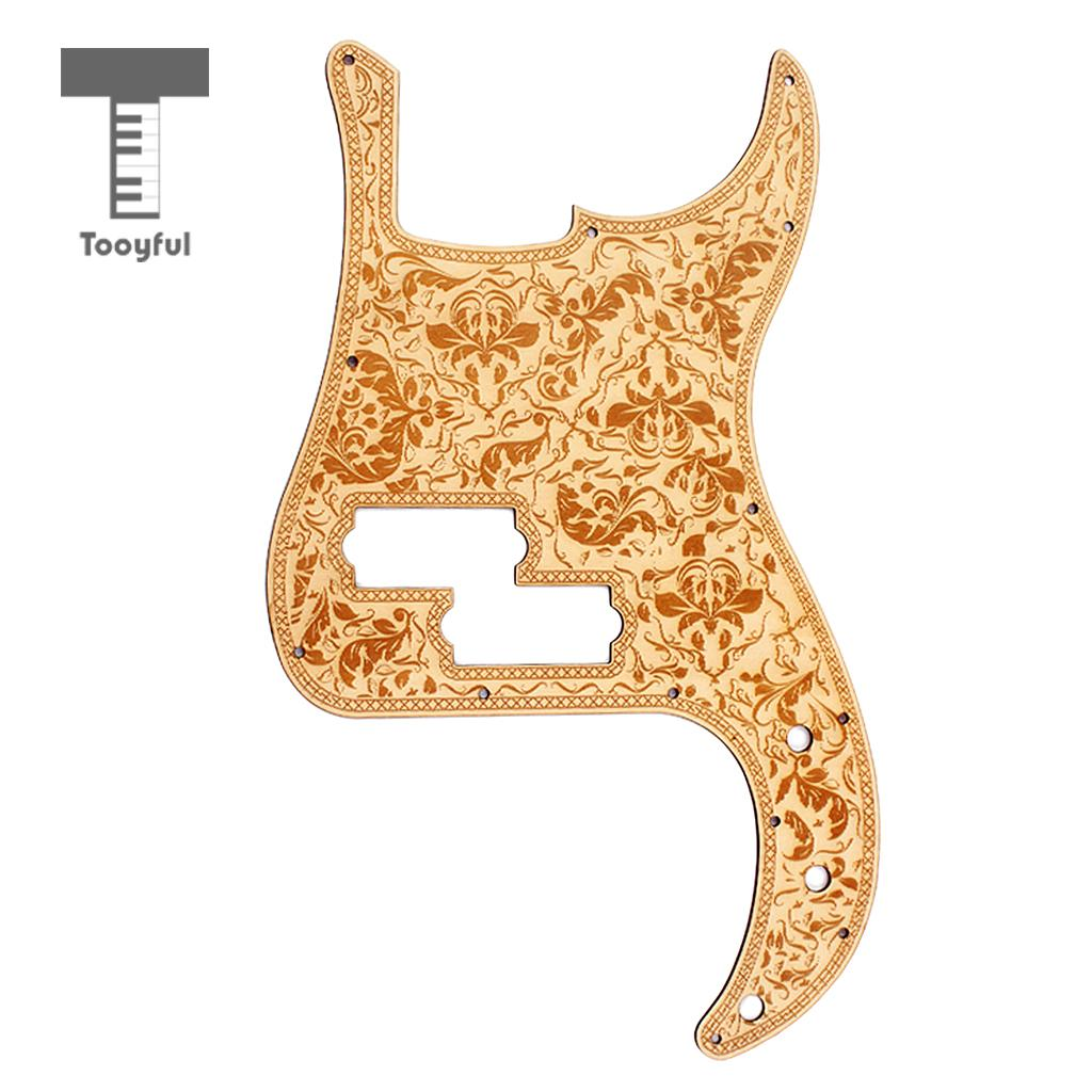 Tooyful 375x225x2.5mm Electric Guitar Bass Pickguard Scratch Plate for P Bass Guitar niko pack of 50pcs chrome black gold guitar pickguard mounting screws 3 12mm for st tl lp sg electric guitar bass