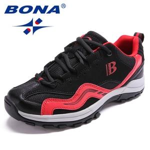 Image 4 - BONA คลาสสิกใหม่สไตล์ผู้หญิงเดินป่ารองเท้ากลางแจ้งรองเท้าวิ่ง Lace Up รองเท้าสบายจัดส่งฟรี