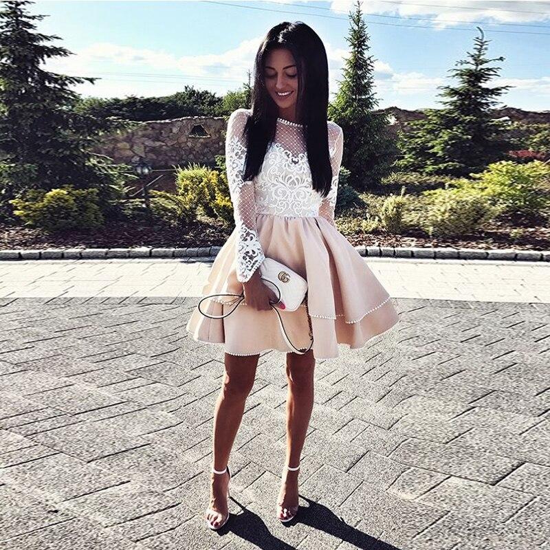 Perles Cou Satin Backless Longues Champagne Robes Parti Slash Sans Mignon Bal Rose Manches Ivoire De Appliques wHA0xvaqx