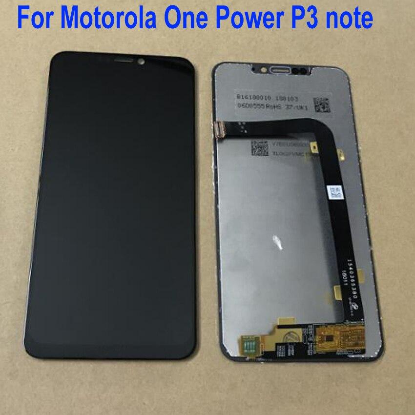 Meilleur travail LCD affichage écran tactile numériseur verre capteur assemblée pour Motorola Moto une puissance (p30 note) XT1942-1 XT1942-2