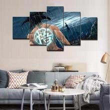 5 Piece HD Print Paintings on Canvas Wall Art Dragon Ball Z Anime Super Saiyan Framework Poster Prints