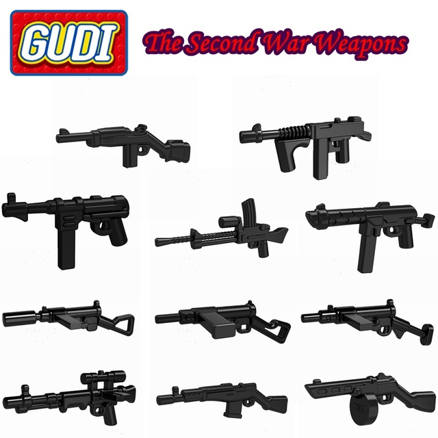 10pcs lot the second war weapons wholesale all kinds of guns for