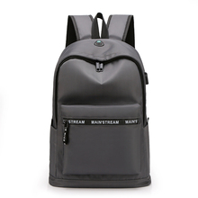 Star New School Fashion Men Backpack Bag Water Proof men External USB Charge Rucksack sac a dos	mochila plecak