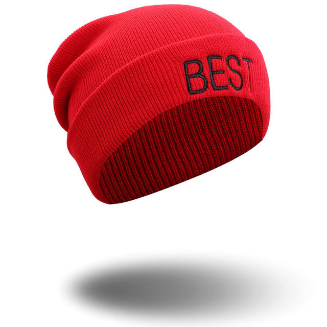032477b8d US $9.99 |embroidery letter red black beanies for unisex best friend couple  style casual caps warm acrylic winter boy girl fashion -in Skullies & ...