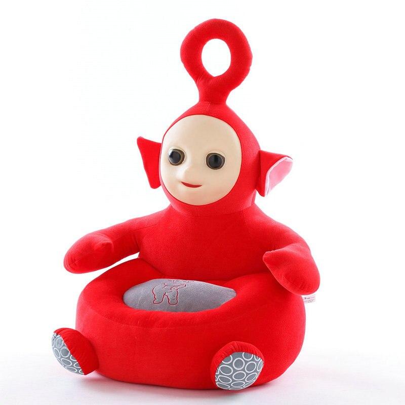 Teletubbies enfants apprendre chaise bébé poupée Tele tubbies tinky winky Dipsy Laa Po film peluche 3D Silicone visage jouets pour enfants - 3