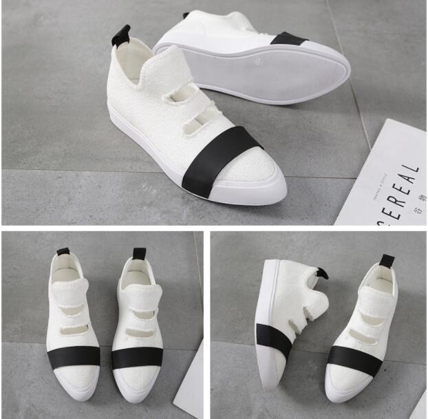 Polyvalent Tricot Casual En Chaussures Pointu Unique 1095 Plat 2018 Tissu Point Nouveau Élastique IBpwpz